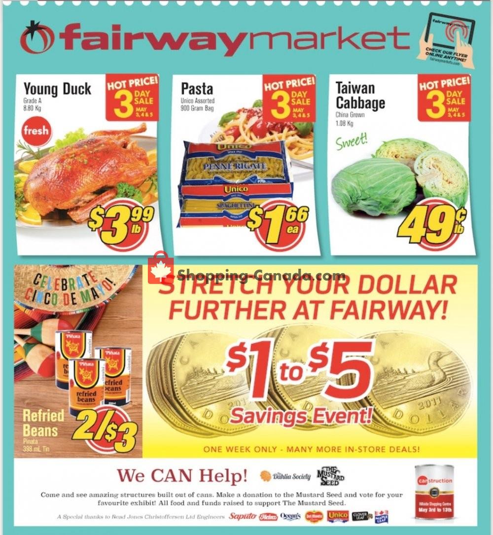 Flyer Fairway Market Canada - from Friday May 3, 2019 to Thursday May 9, 2019