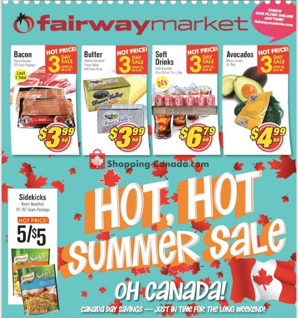 Flyer Fairway Market Canada - from Friday June 21, 2019 to Thursday June 27, 2019