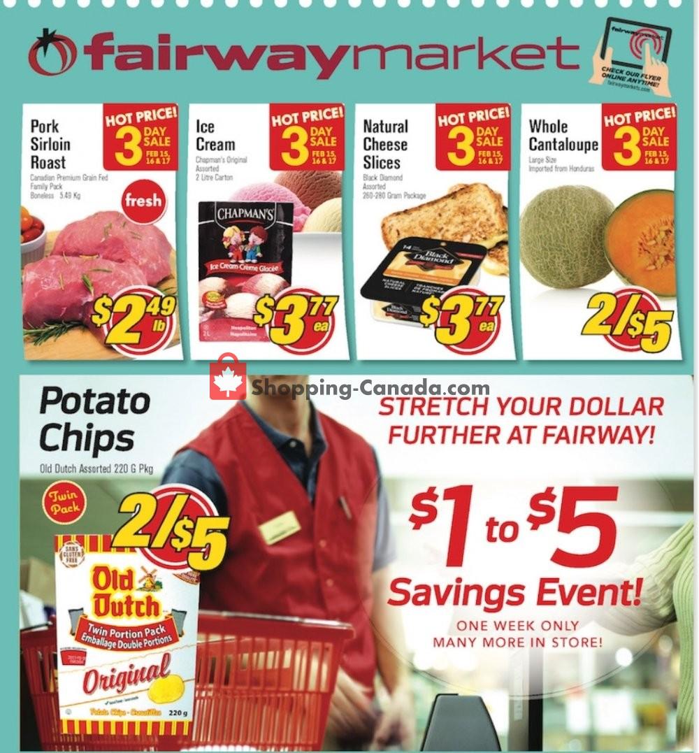 Flyer Fairway Market Canada - from Friday February 15, 2019 to Thursday February 21, 2019
