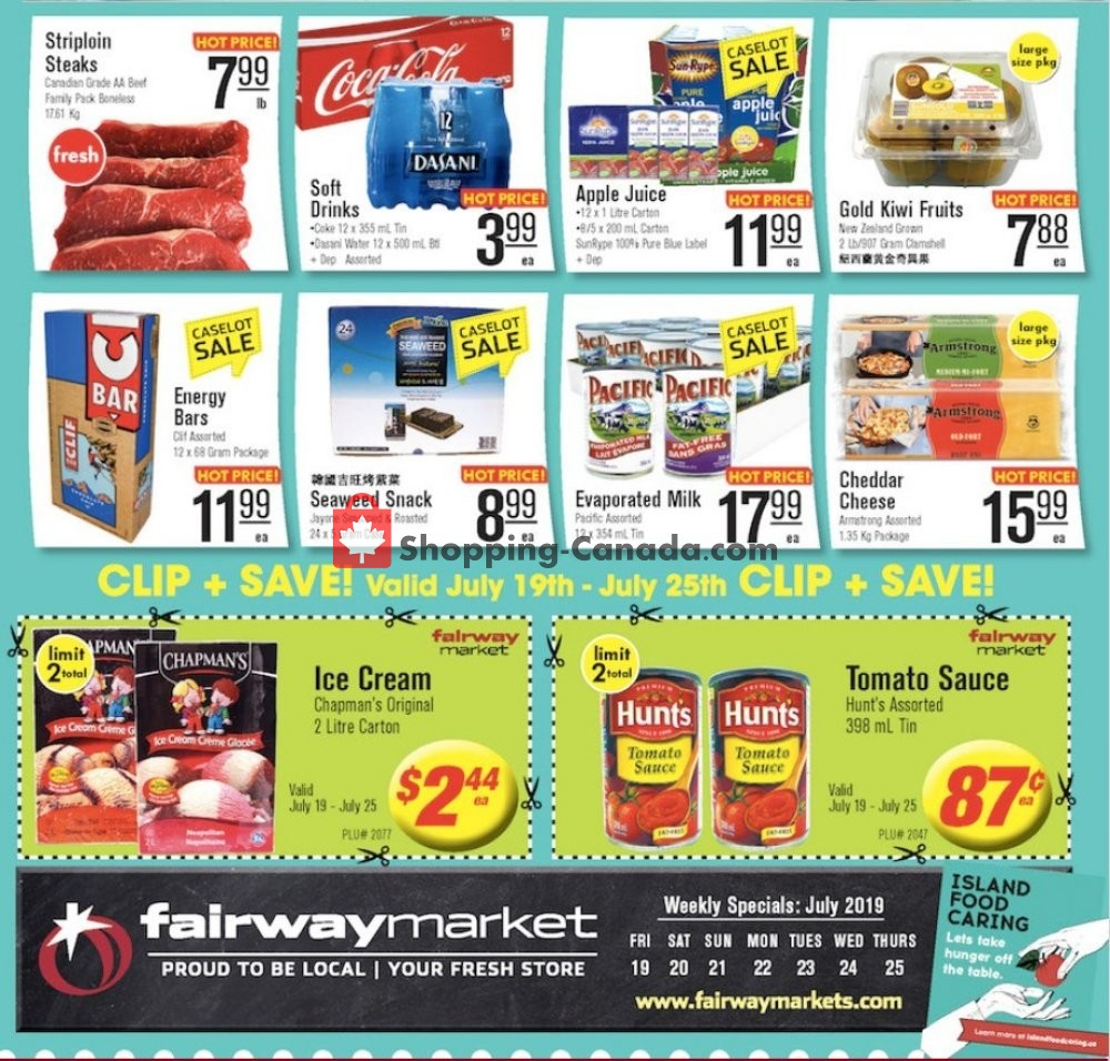Flyer Fairway Market Canada - from Friday July 19, 2019 to Thursday July 25, 2019