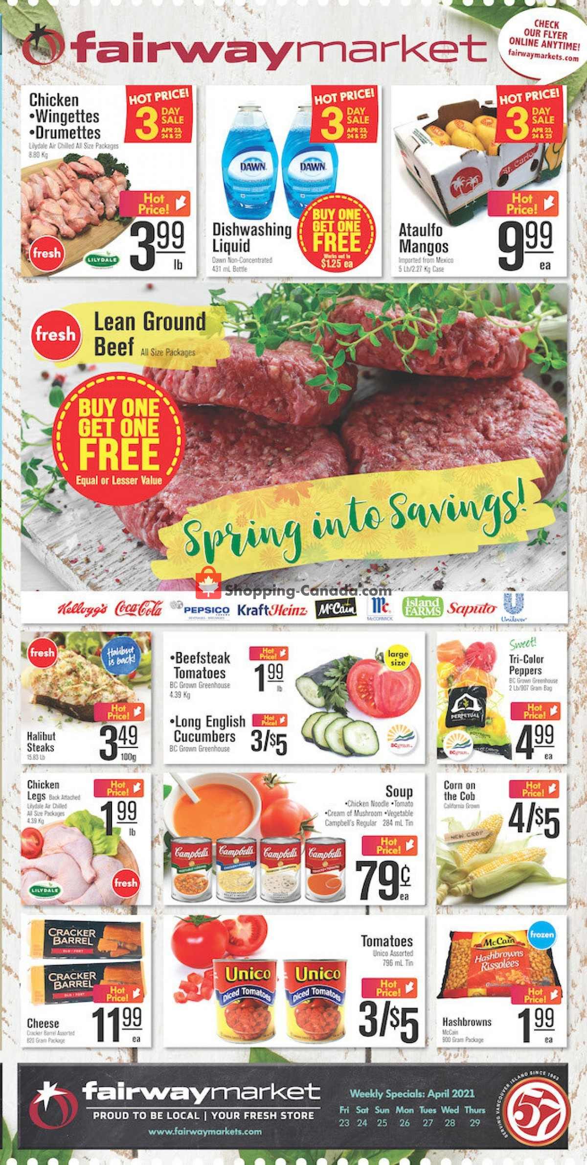 Flyer Fairway Market Canada - from Friday April 23, 2021 to Thursday April 29, 2021
