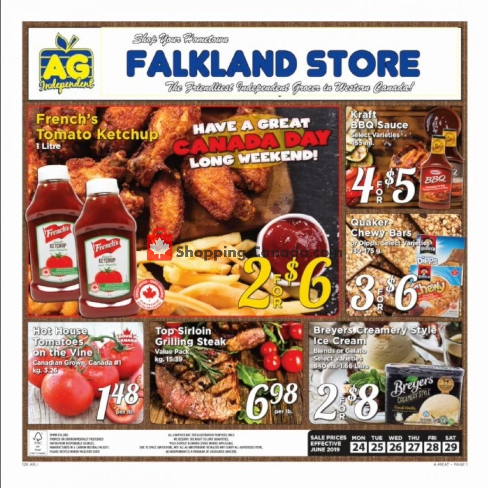 Flyer Falkland Store Ltd. Canada - from Sunday June 23, 2019 to Saturday June 29, 2019
