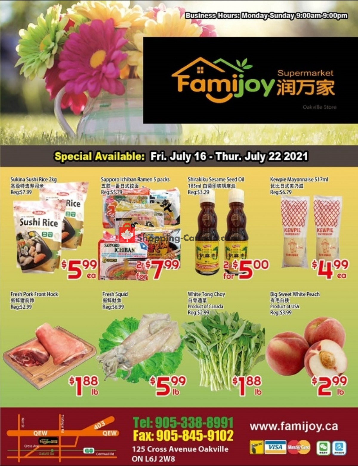 Flyer Famijoy Canada - from Friday July 16, 2021 to Thursday July 22, 2021