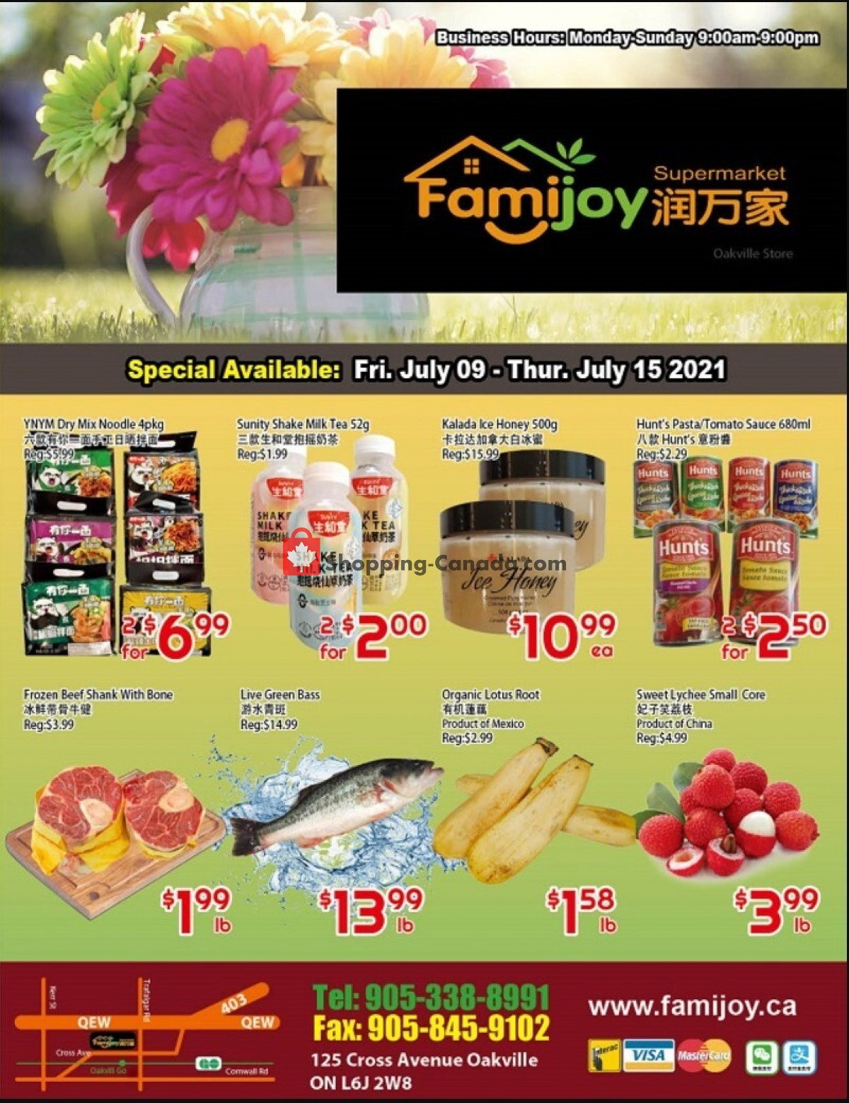 Flyer Famijoy Canada - from Friday July 9, 2021 to Thursday July 15, 2021