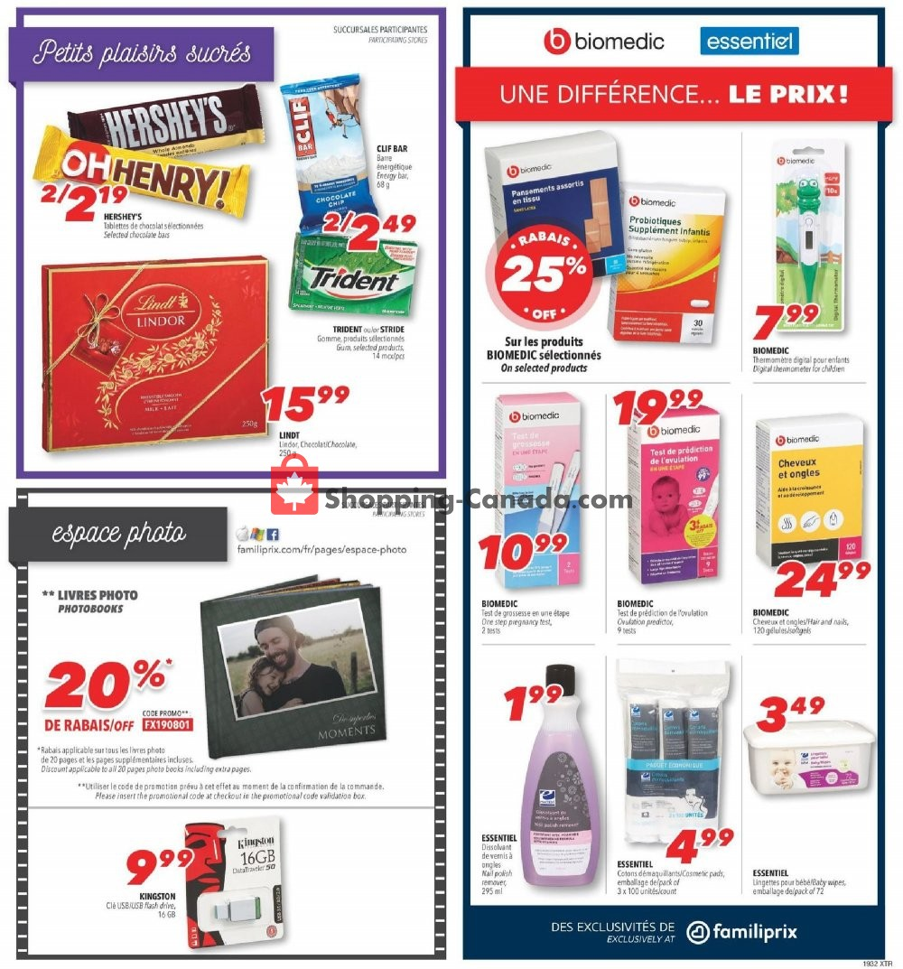 Flyer Familiprix Canada - from Thursday August 8, 2019 to Wednesday August 14, 2019