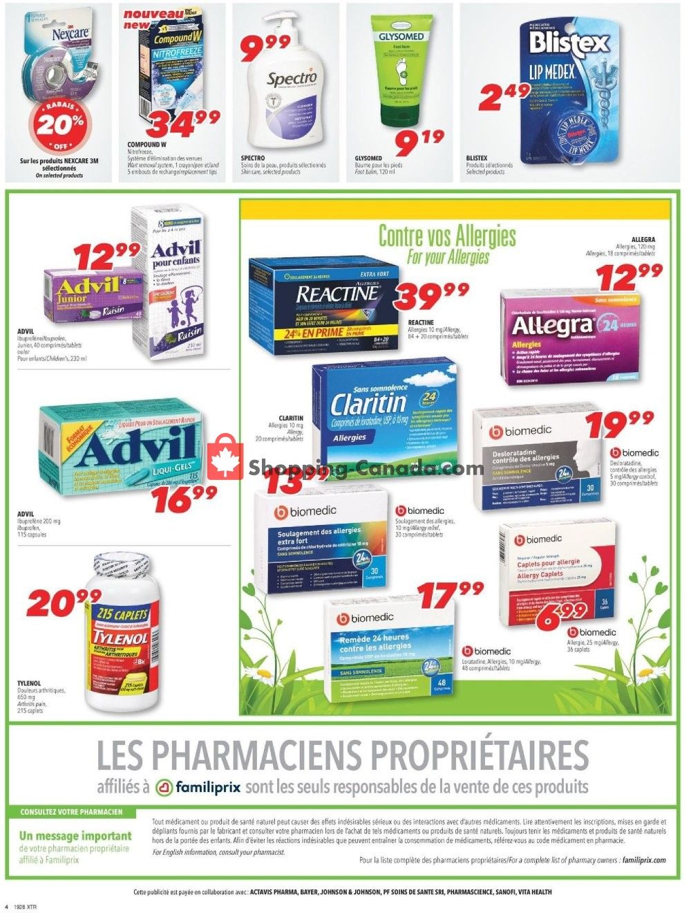 Flyer Familiprix Canada - from Thursday July 11, 2019 to Wednesday July 17, 2019