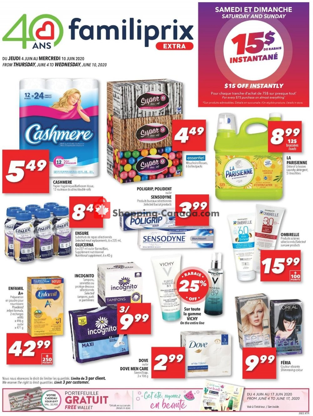 Flyer Familiprix Canada - from Thursday June 4, 2020 to Wednesday June 10, 2020
