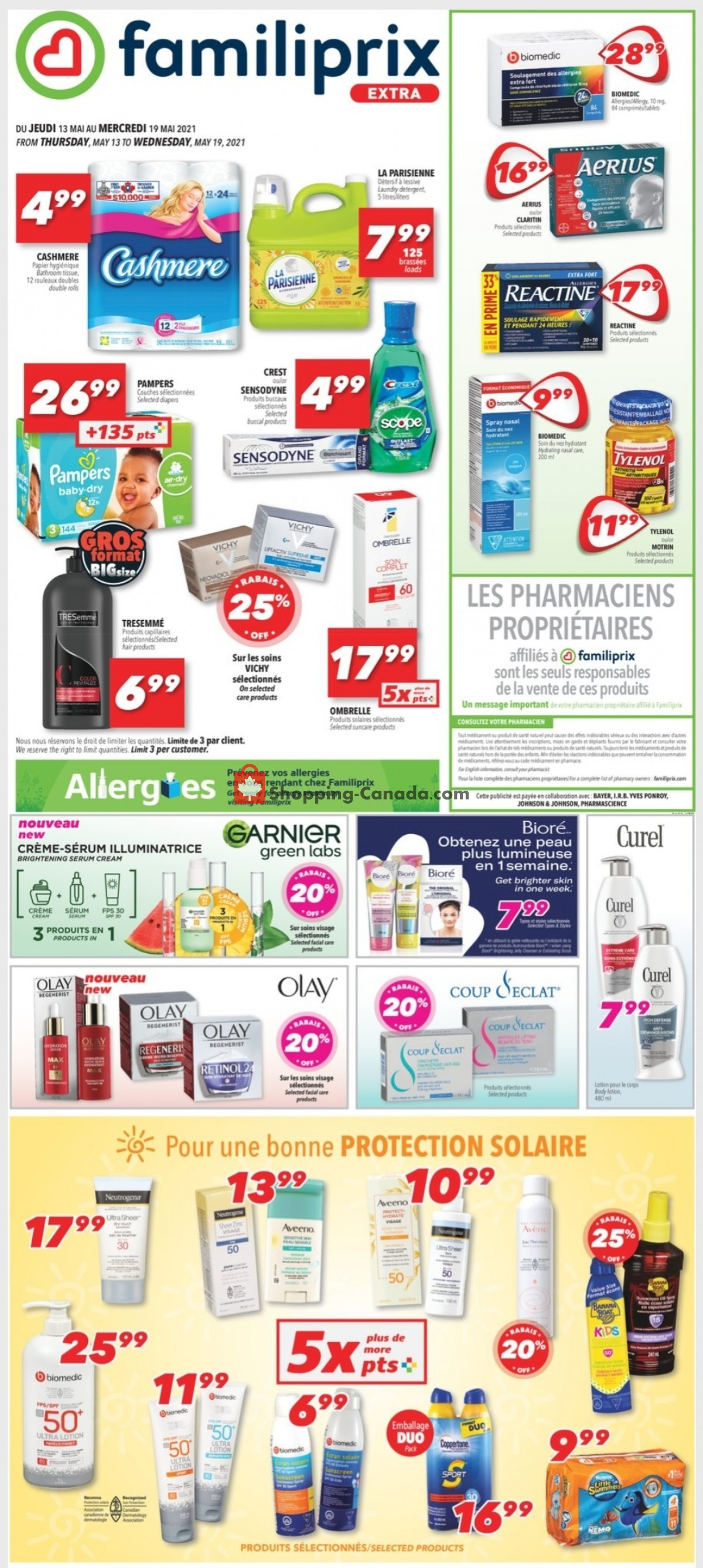 Flyer Familiprix Canada - from Thursday May 13, 2021 to Wednesday May 19, 2021