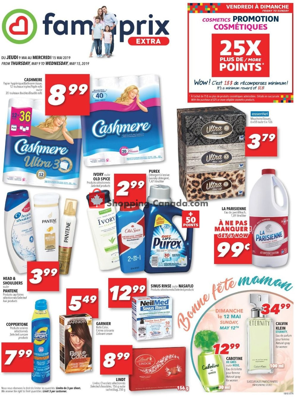 Flyer Familiprix Canada - from Thursday May 9, 2019 to Wednesday May 15, 2019