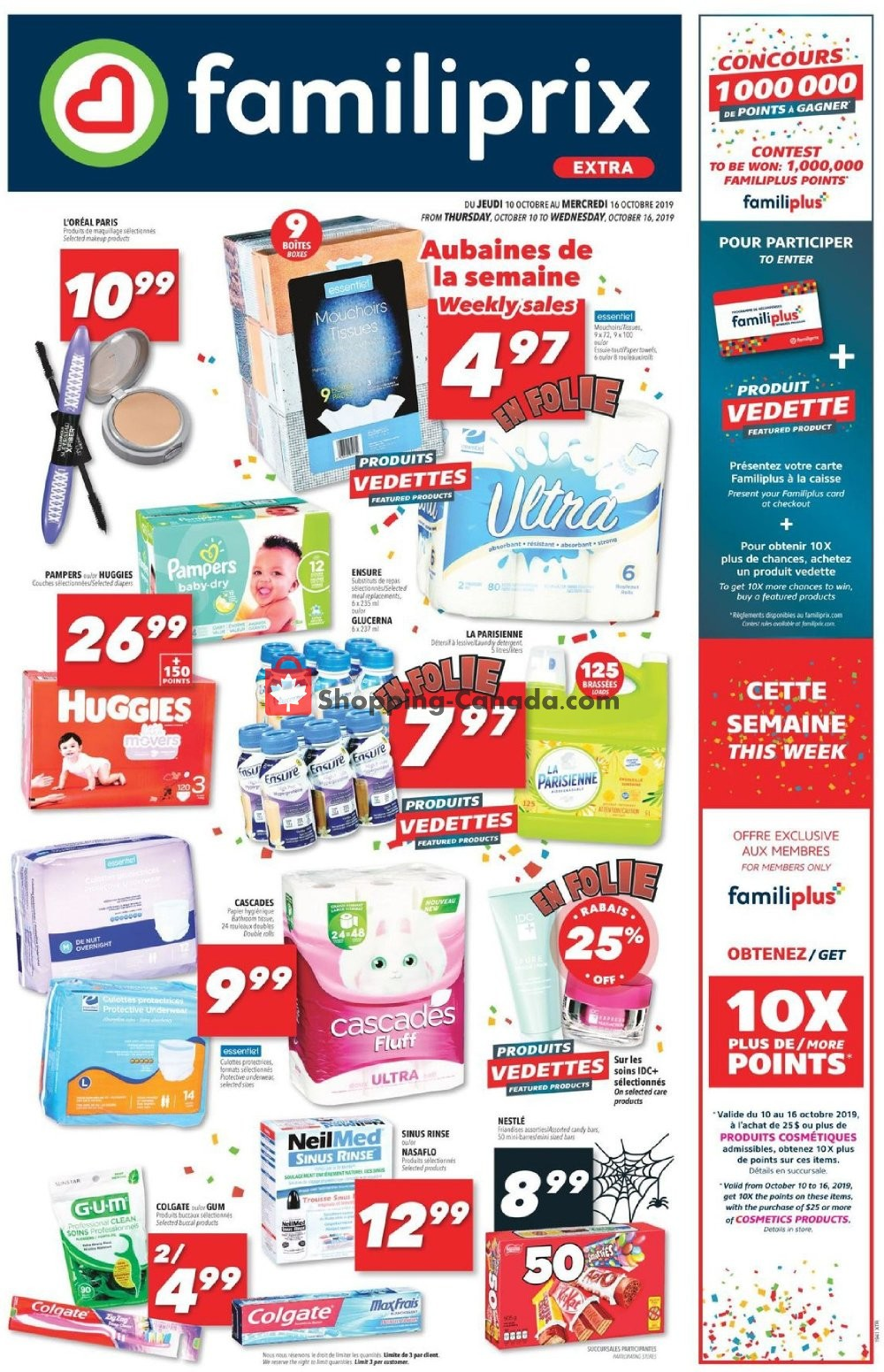 Flyer Familiprix Canada - from Thursday October 10, 2019 to Wednesday October 16, 2019