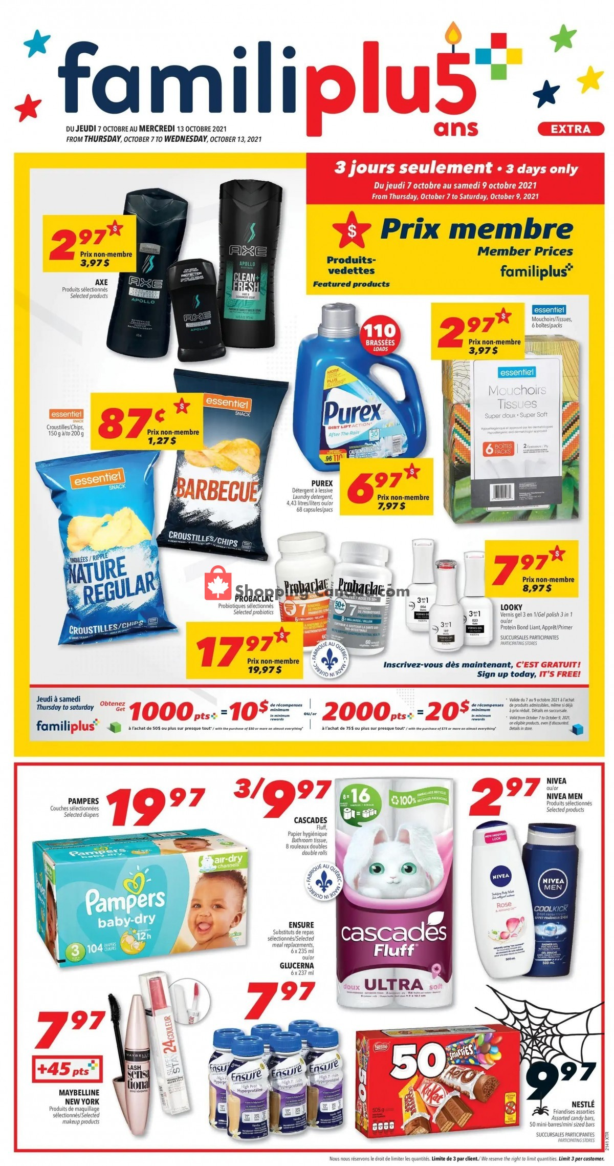 Flyer Familiprix Canada - from Thursday October 7, 2021 to Wednesday October 13, 2021