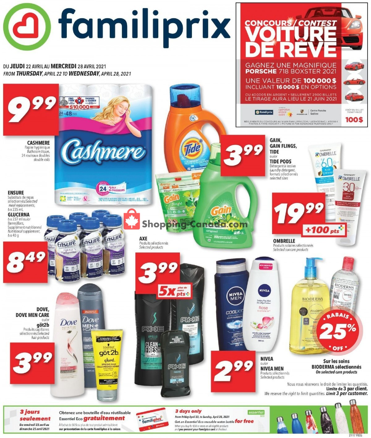 Flyer Familiprix Canada - from Thursday April 22, 2021 to Wednesday April 28, 2021