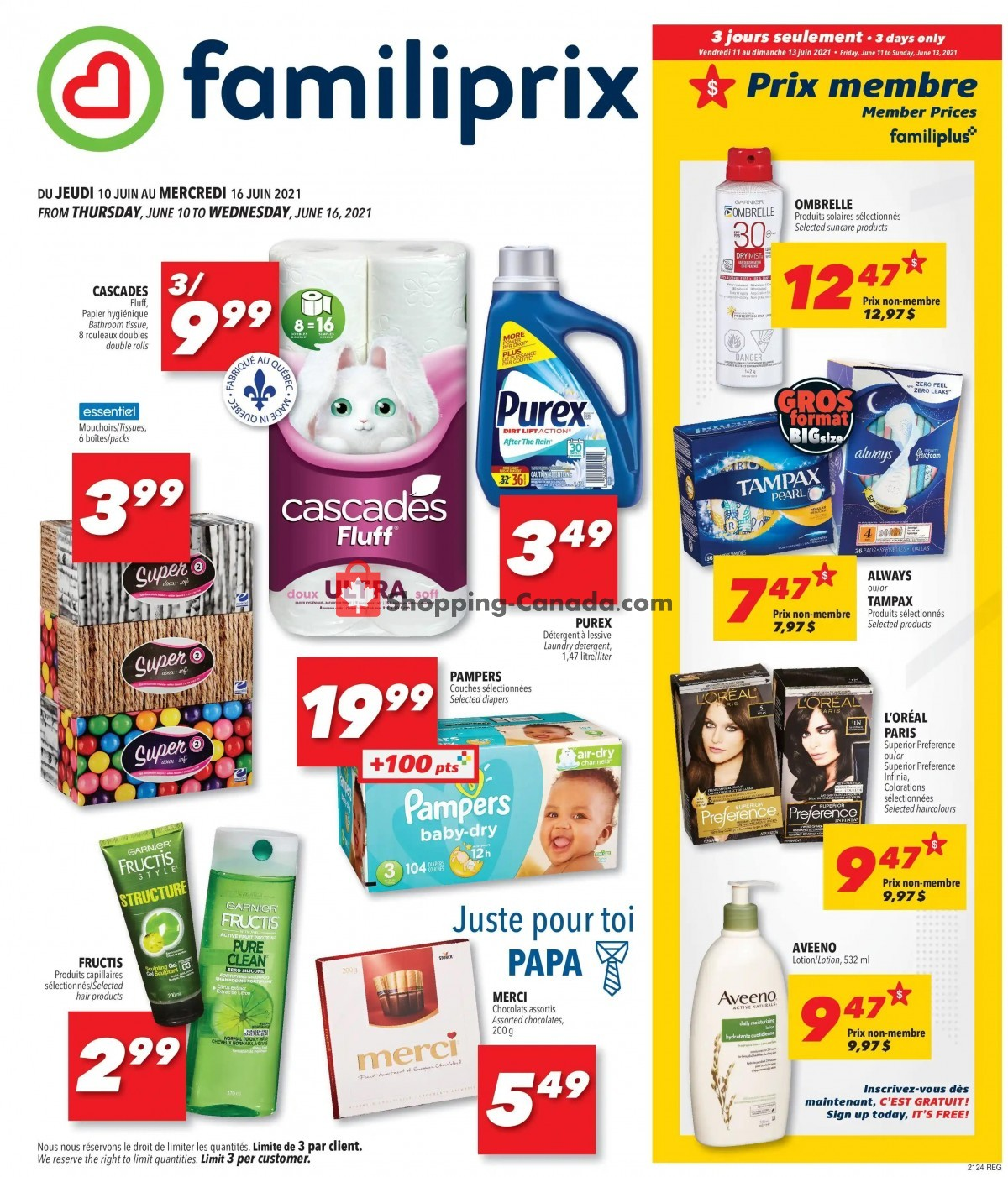 Flyer Familiprix Canada - from Thursday June 10, 2021 to Wednesday June 16, 2021