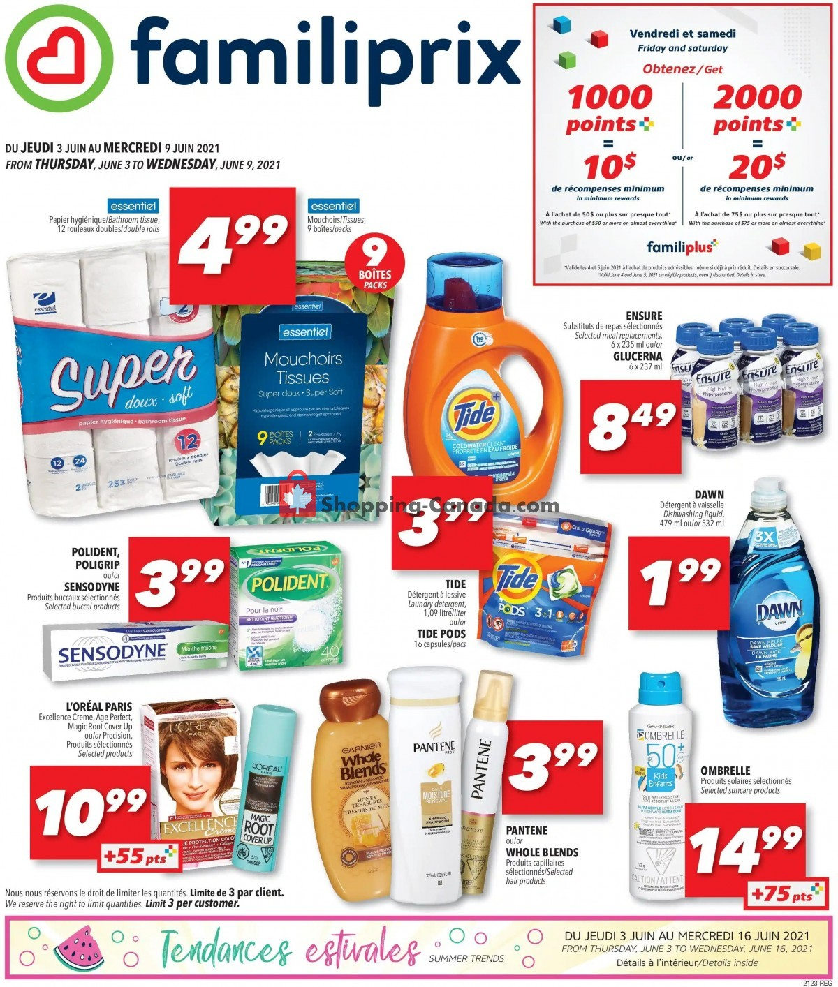 Flyer Familiprix Canada - from Thursday June 3, 2021 to Wednesday June 9, 2021