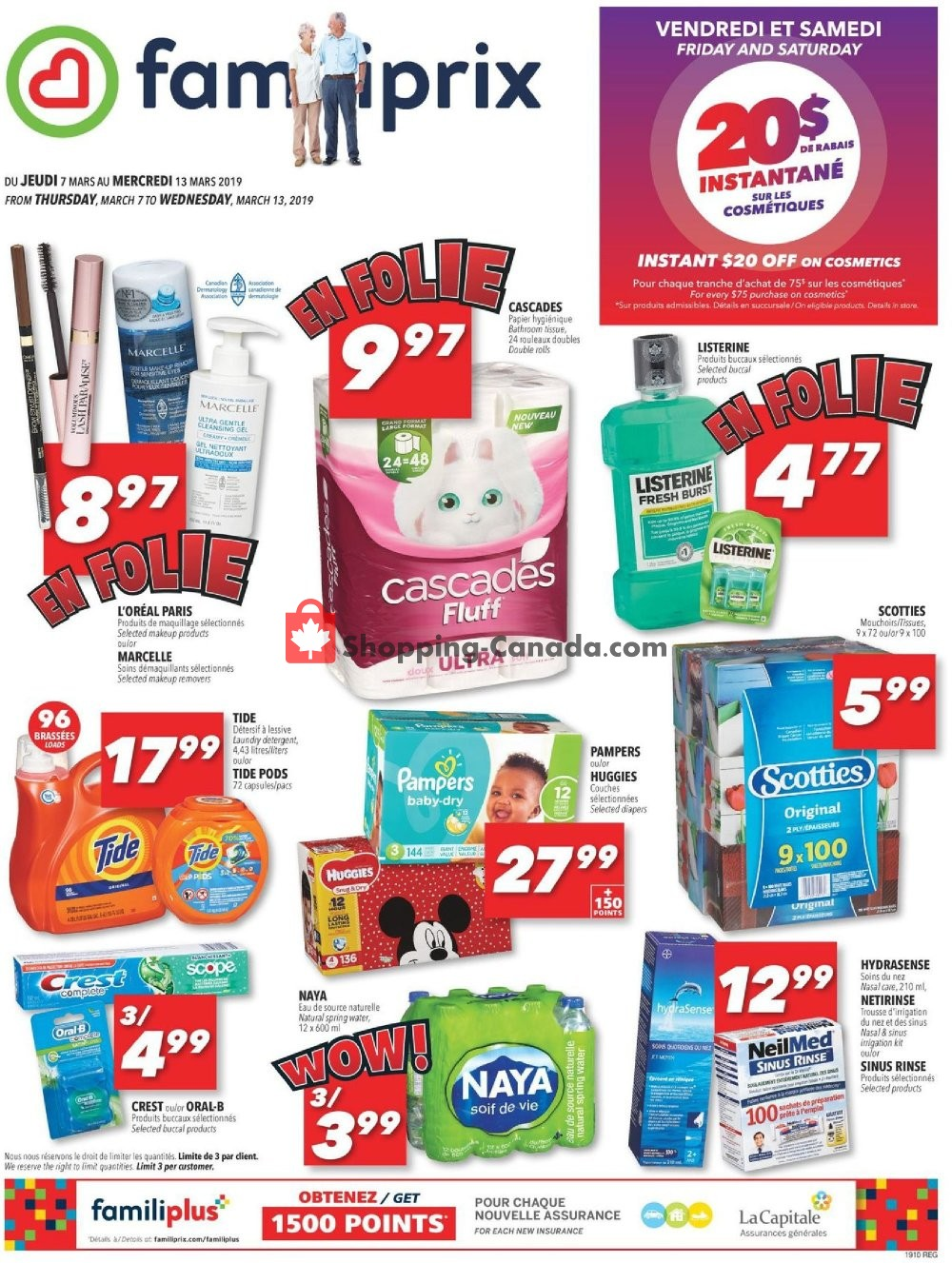 Flyer Familiprix Canada - from Thursday March 7, 2019 to Wednesday March 13, 2019