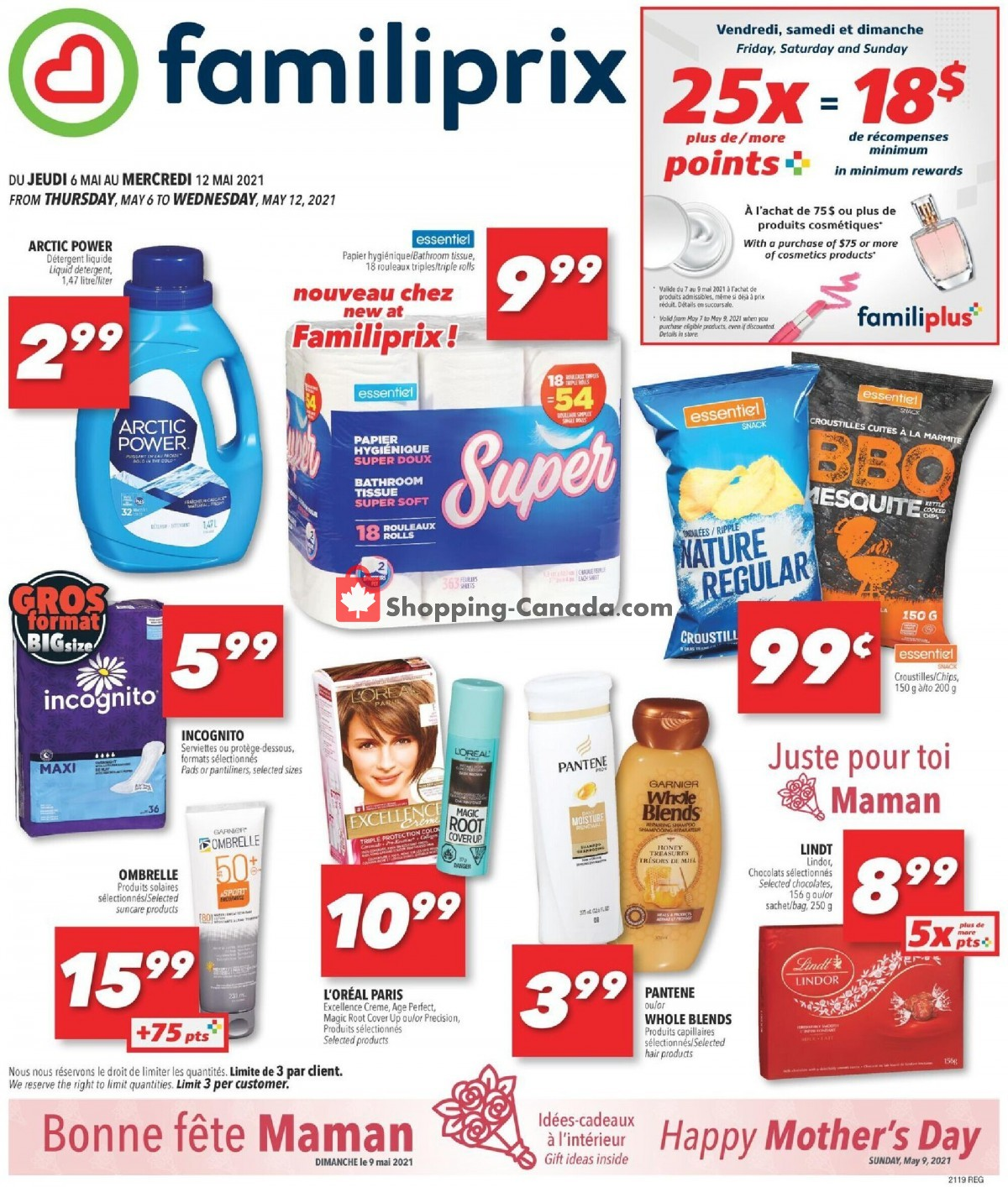 Flyer Familiprix Canada - from Thursday May 6, 2021 to Wednesday May 12, 2021