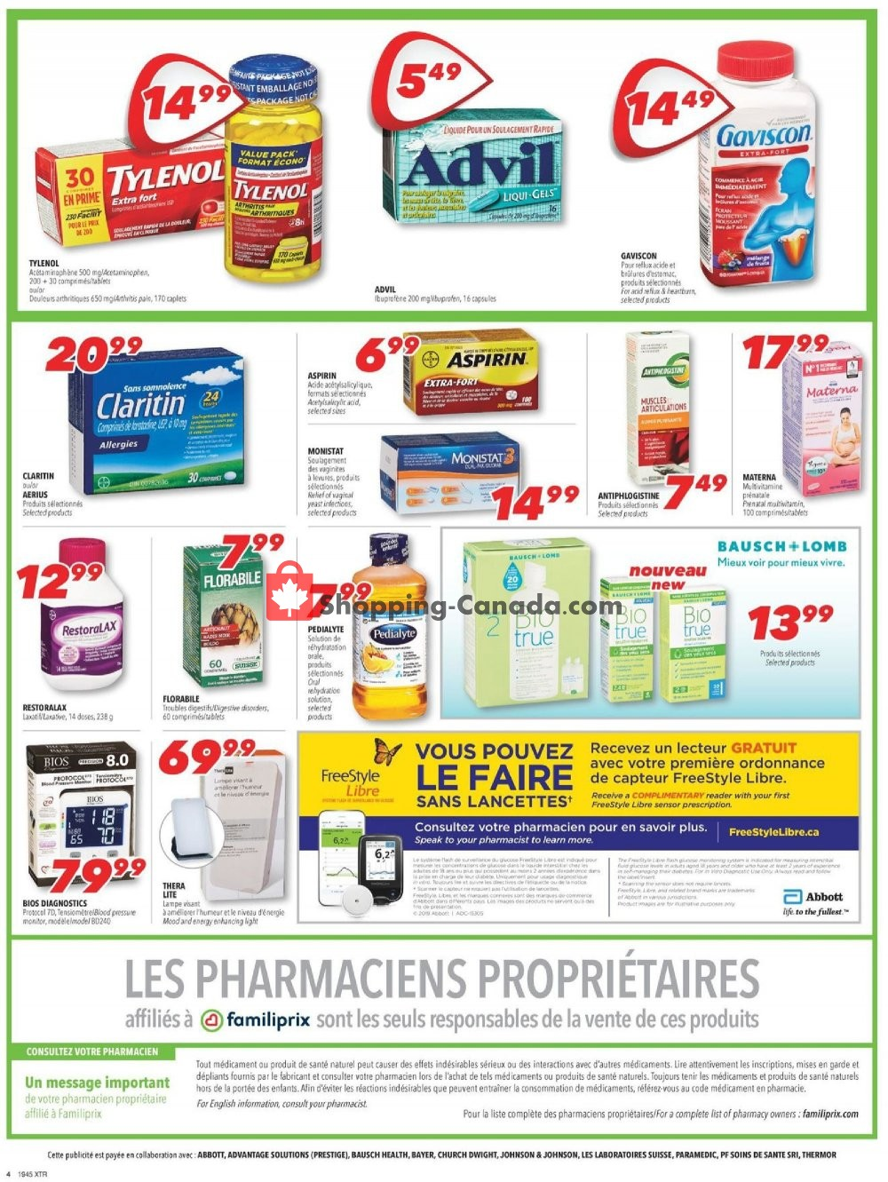 Flyer Familiprix Canada - from Thursday November 7, 2019 to Wednesday November 13, 2019