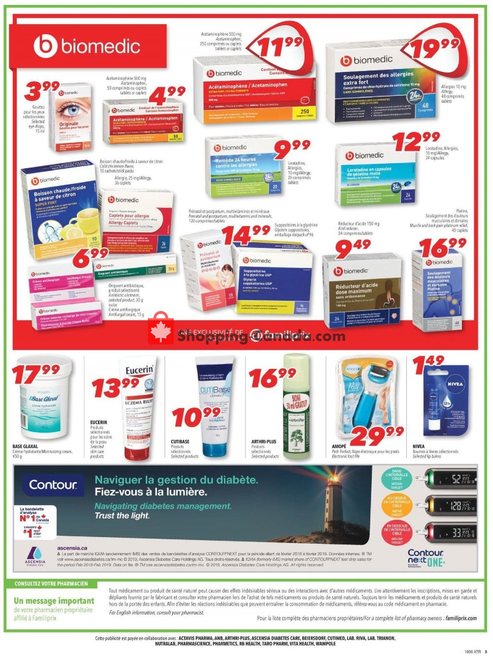 Flyer Familiprix Canada - from Thursday September 5, 2019 to Wednesday September 11, 2019