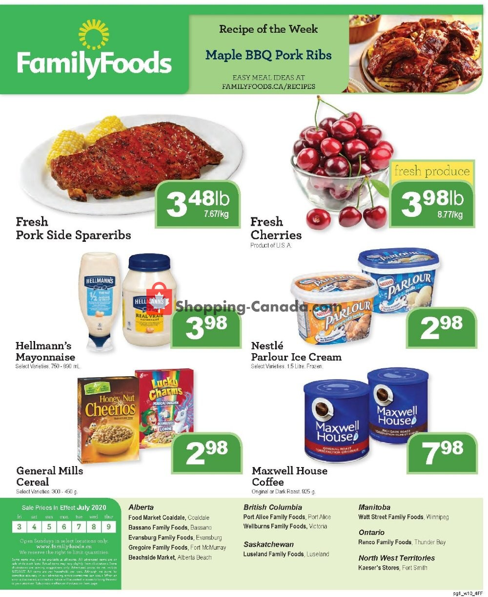 Flyer Family Foods Canada - from Friday July 3, 2020 to Thursday July 9, 2020