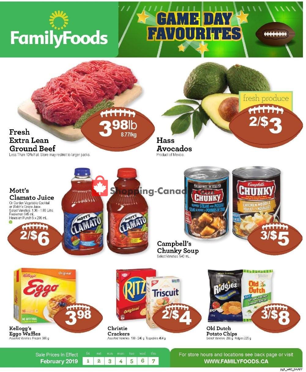 Flyer Family Foods Canada - from Friday February 1, 2019 to Thursday February 7, 2019