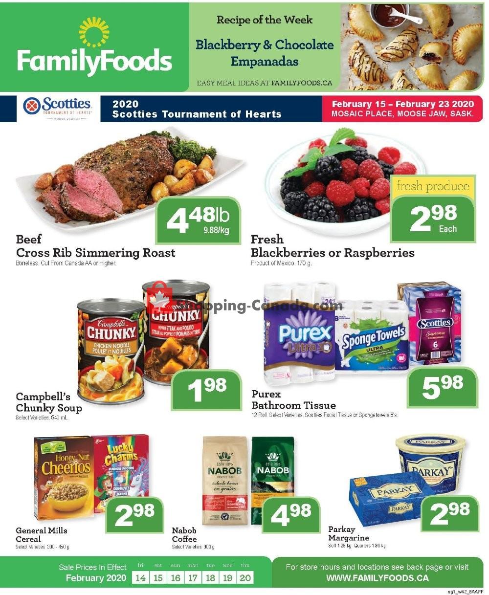 Flyer Family Foods Canada - from Friday February 14, 2020 to Thursday February 20, 2020