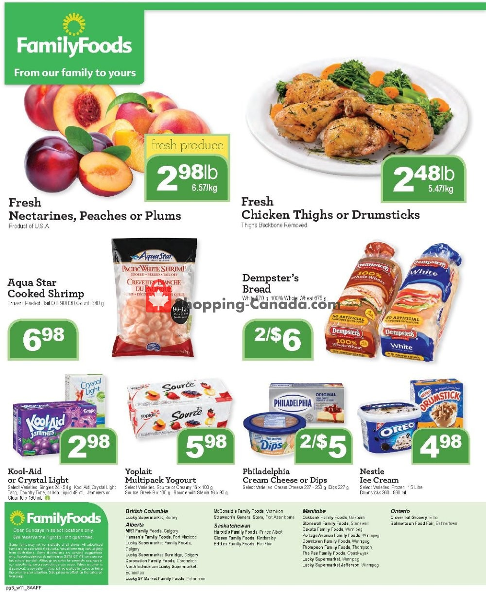 Flyer Family Foods Canada - from Friday July 12, 2019 to Thursday July 18, 2019