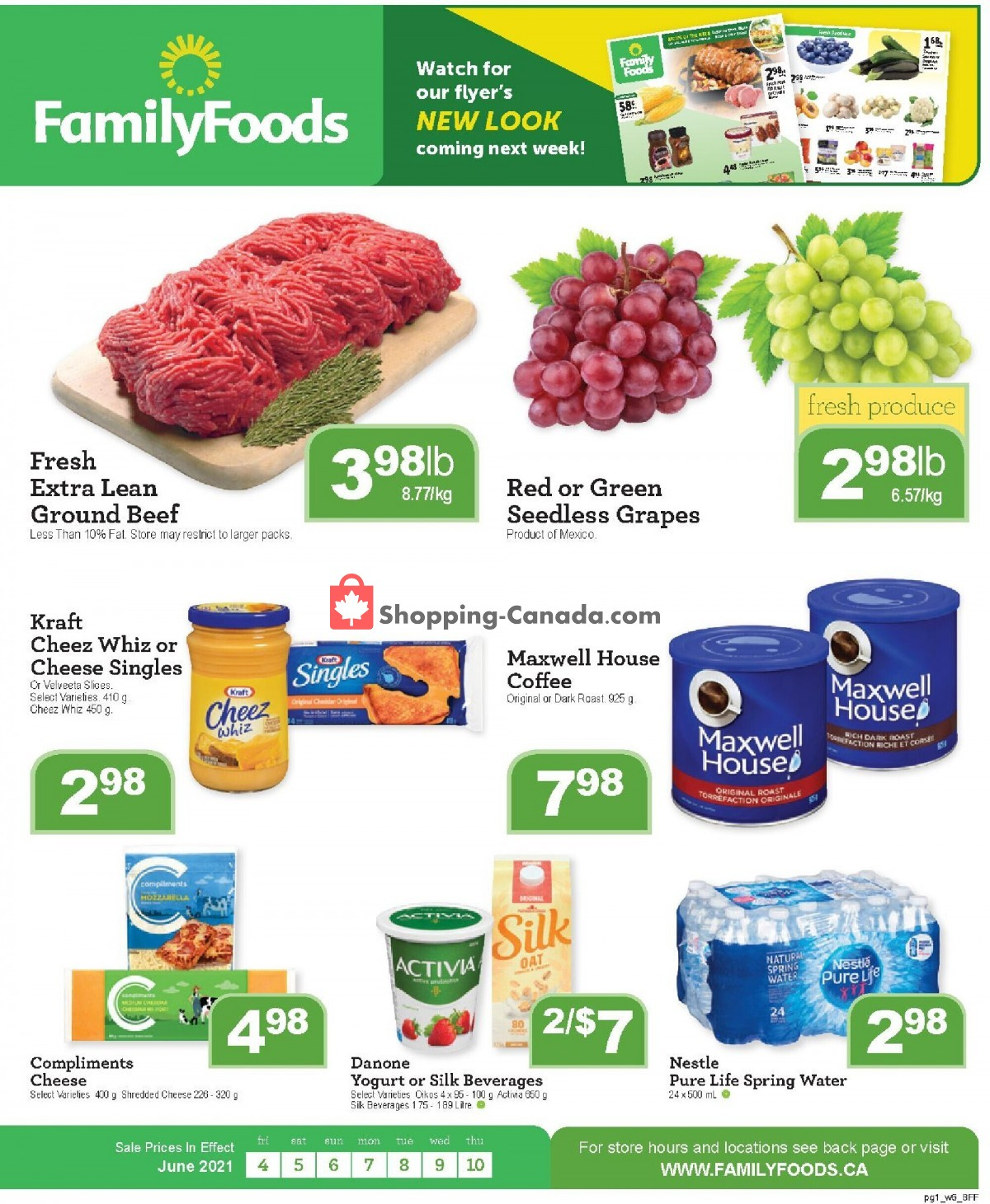 Flyer Family Foods Canada - from Friday June 4, 2021 to Thursday June 10, 2021