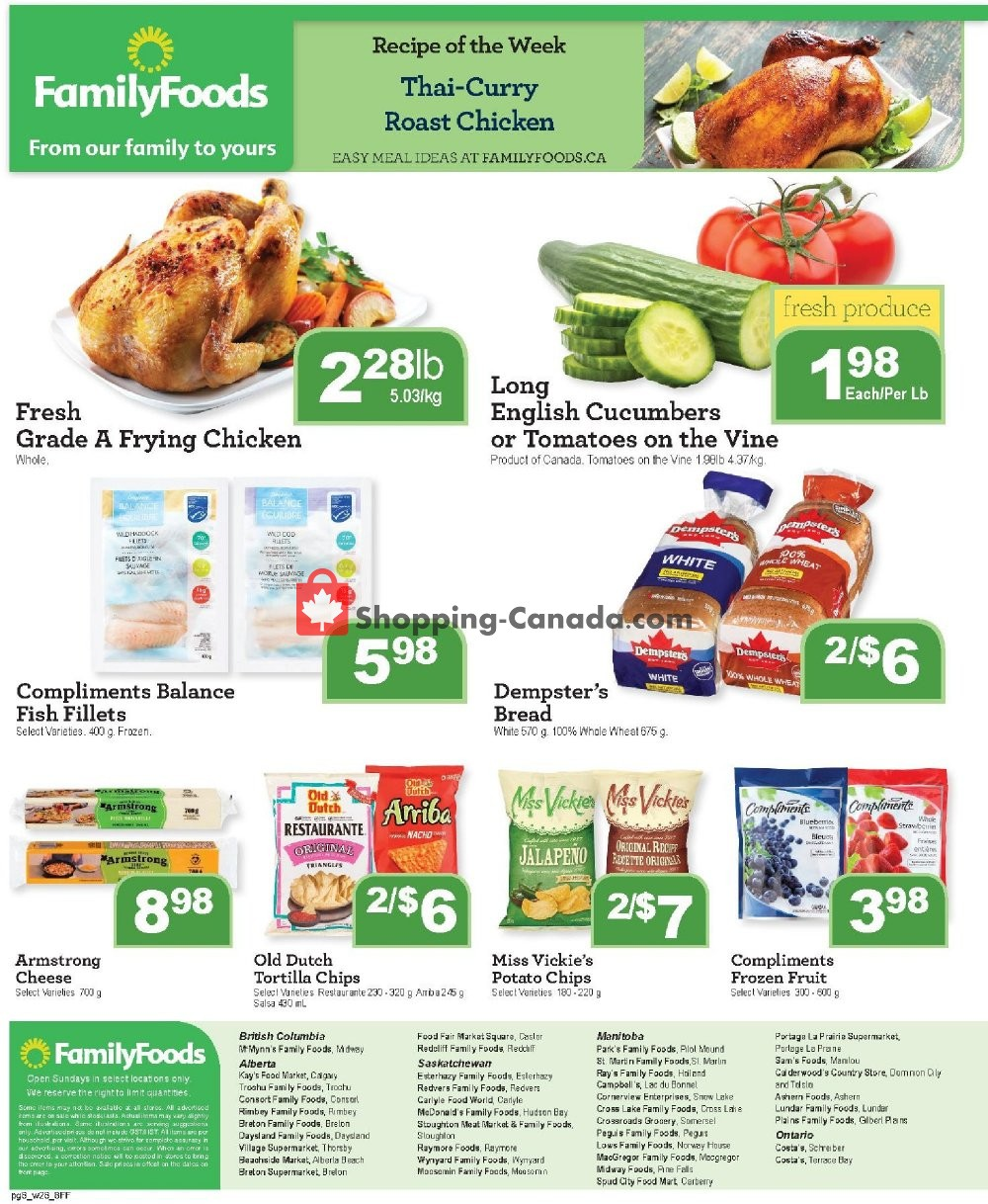 Flyer Family Foods Canada - from Friday November 8, 2019 to Thursday November 14, 2019