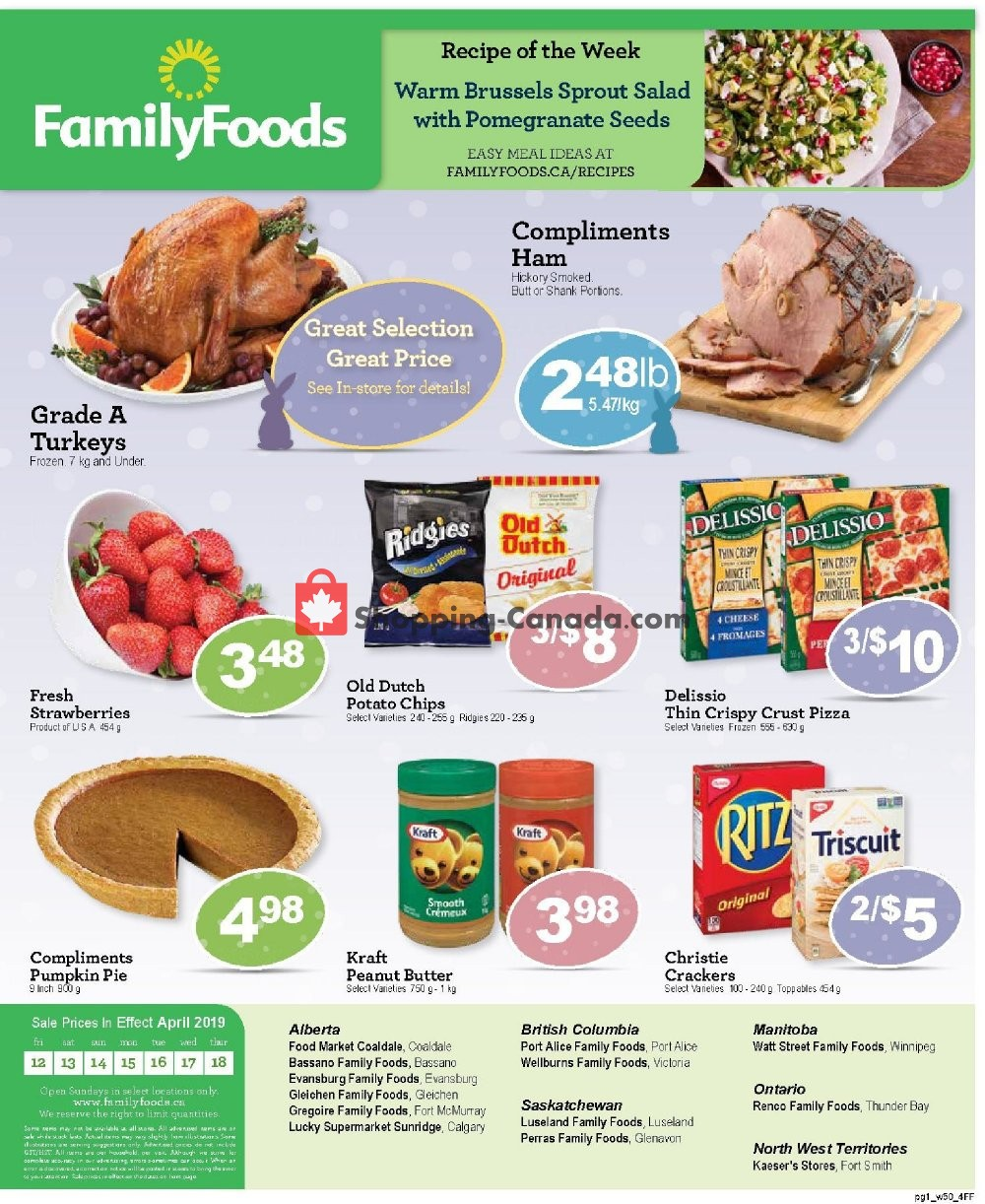 Flyer Family Foods Canada - from Friday April 12, 2019 to Thursday April 18, 2019
