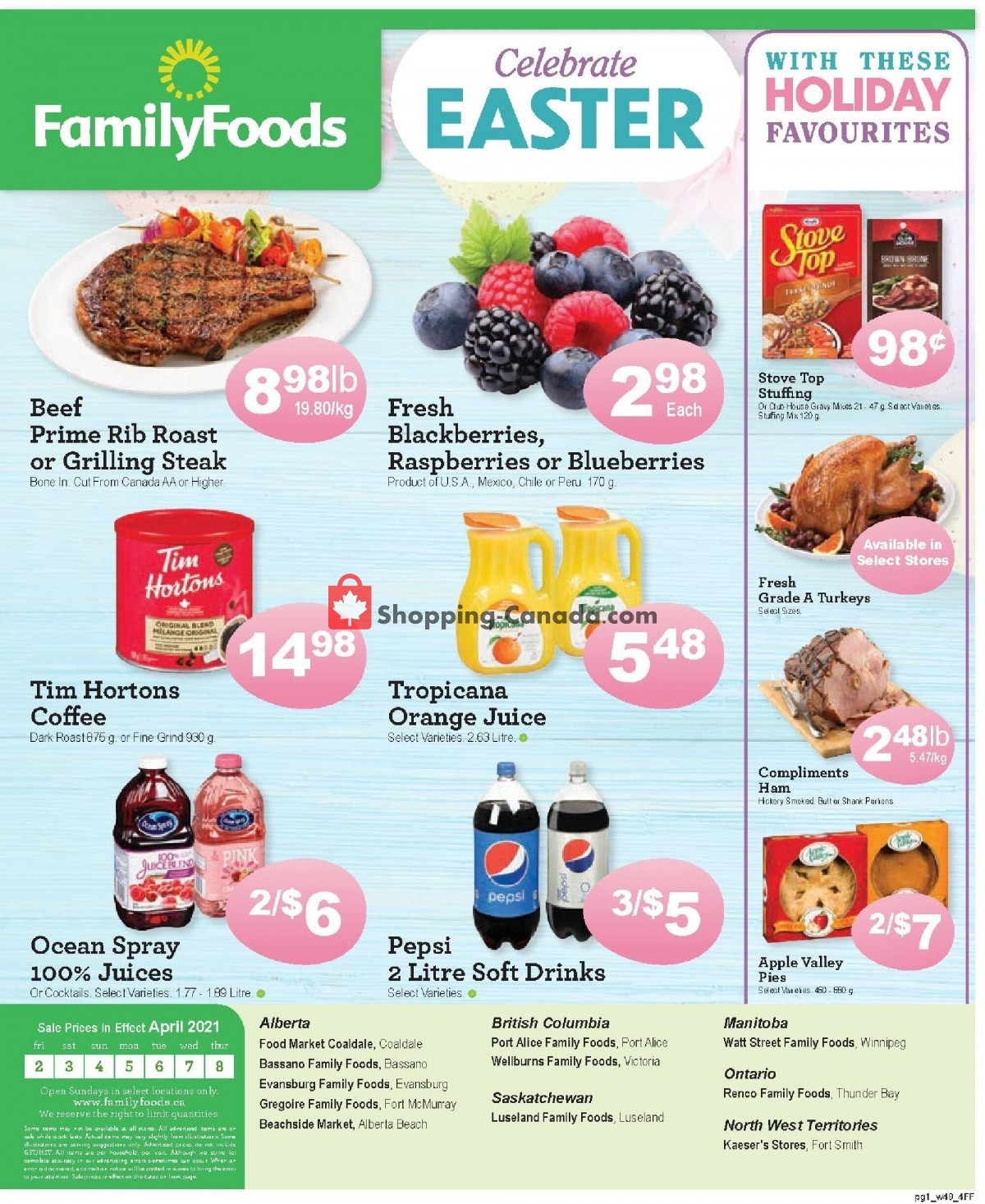Flyer Family Foods Canada - from Friday April 2, 2021 to Thursday April 8, 2021