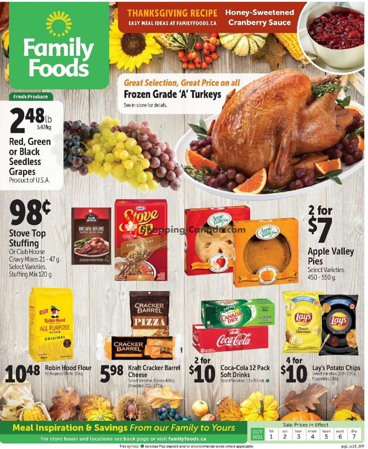 Flyer Family Foods Canada - from Friday October 1, 2021 to Thursday October 7, 2021