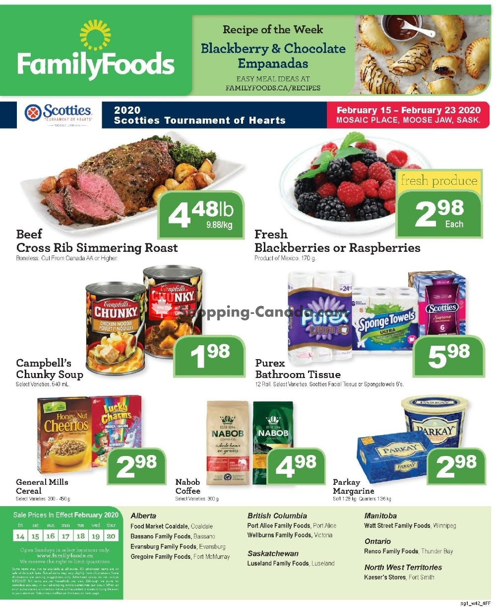 Flyer Family Foods Canada - from Friday February 14, 2020 to Thursday February 20, 2020
