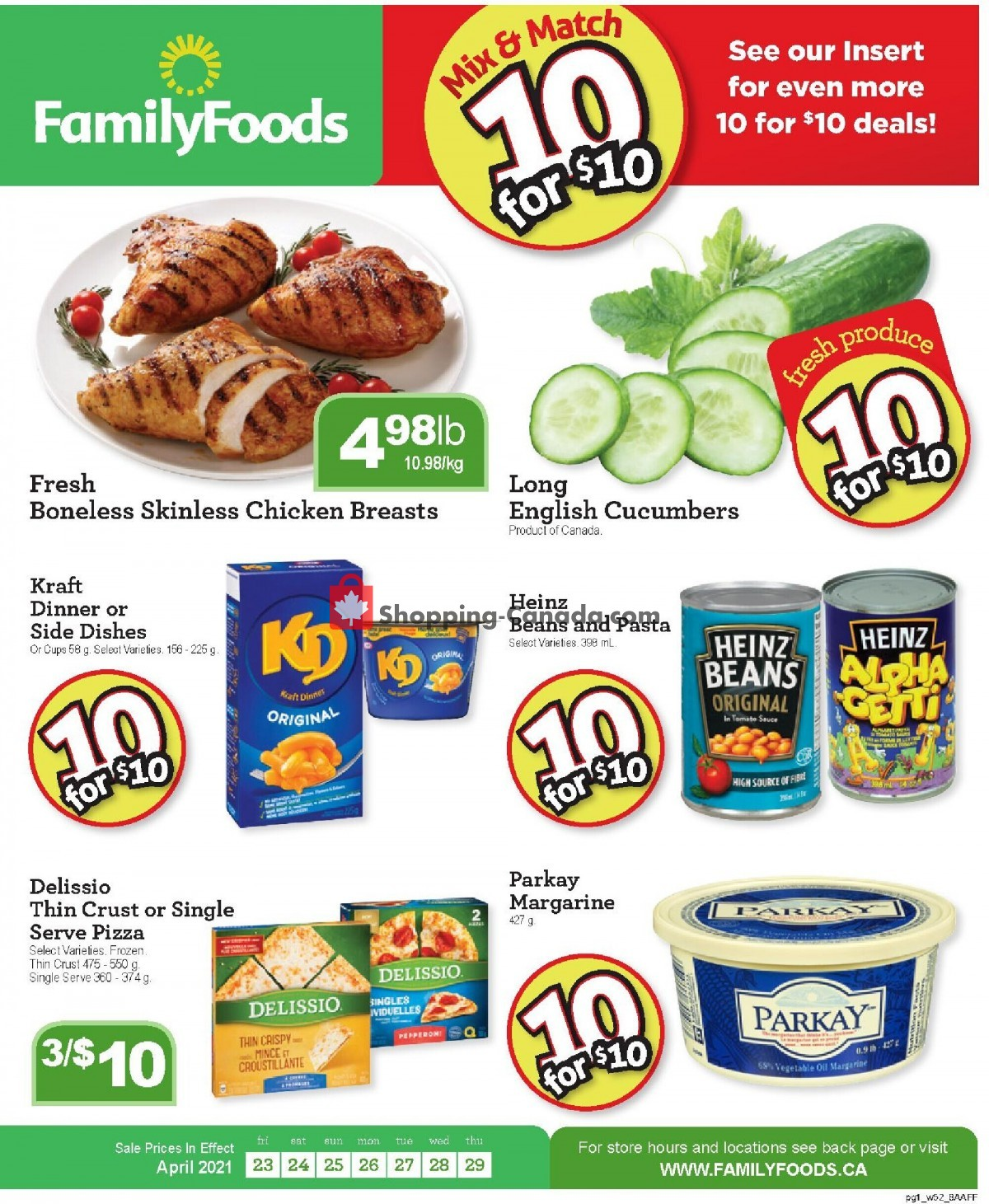 Flyer Family Foods Canada - from Friday April 23, 2021 to Thursday April 29, 2021