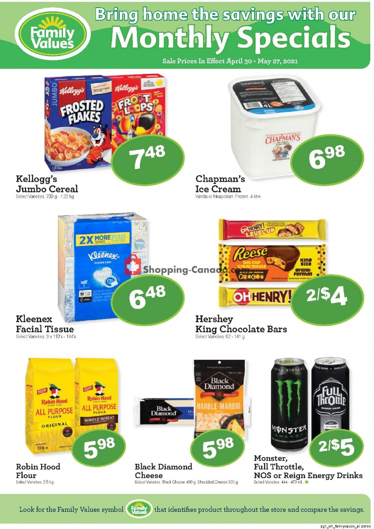 Flyer Family Foods Canada - from Friday April 30, 2021 to Thursday May 27, 2021