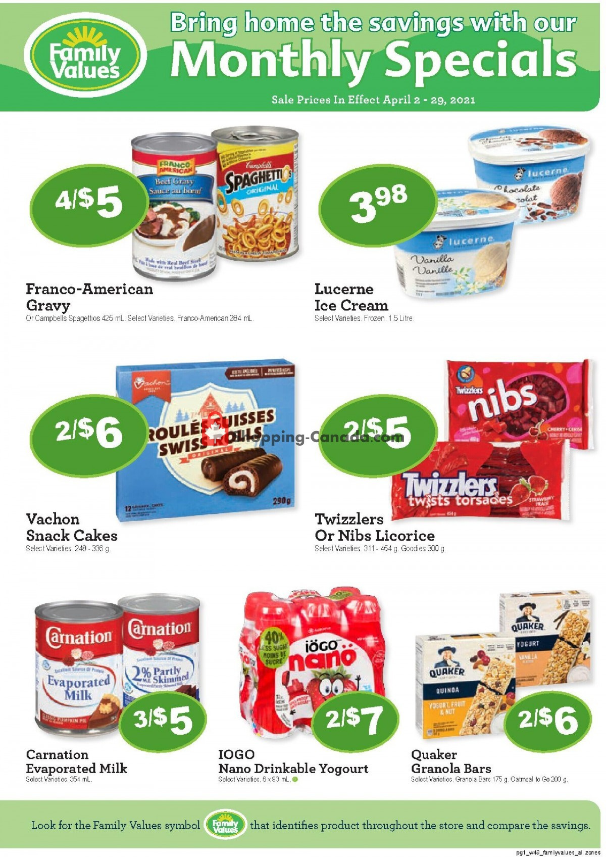Flyer Family Foods Canada - from Friday April 2, 2021 to Thursday April 29, 2021