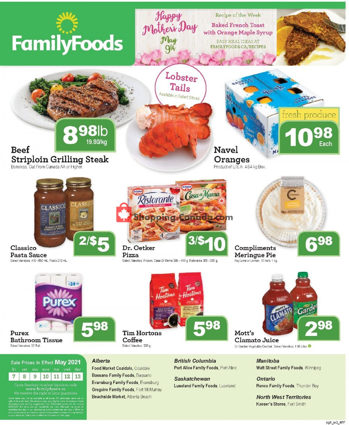 Flyer Family Foods Canada - from Friday May 7, 2021 to Thursday May 13, 2021