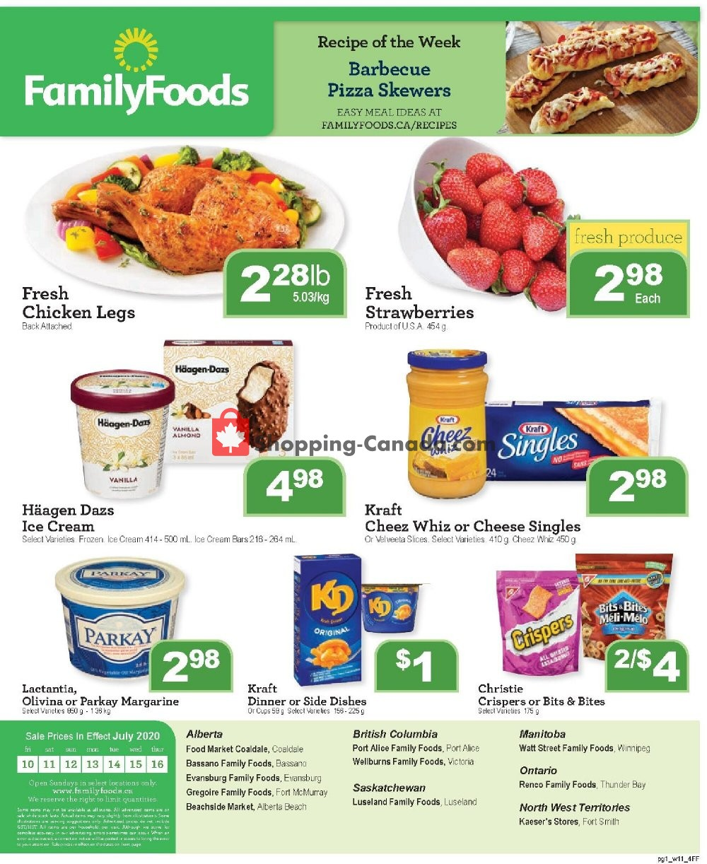 Flyer Family Foods Canada - from Friday July 10, 2020 to Thursday July 16, 2020