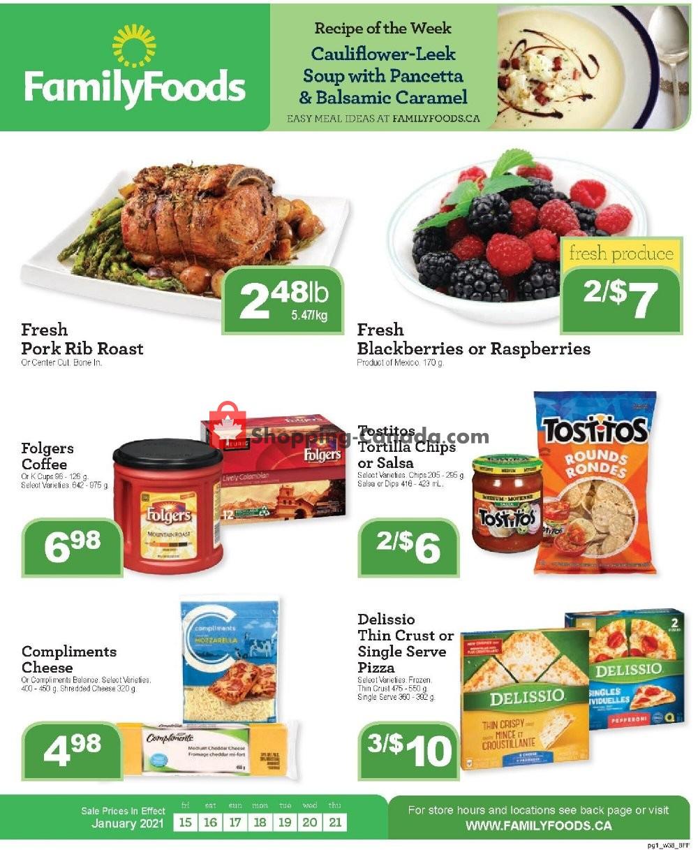 Flyer Family Foods Canada - from Friday January 15, 2021 to Thursday January 21, 2021