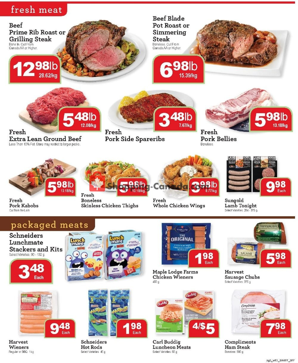 Flyer Family Foods Canada - from Friday August 9, 2019 to Thursday August 15, 2019