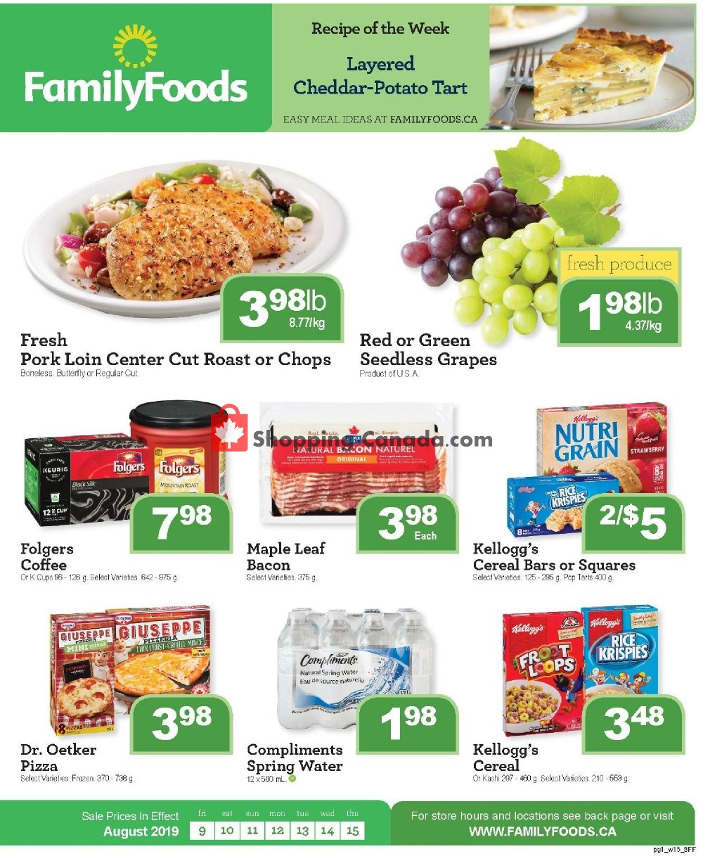 Flyer Family Foods Canada - from Friday August 9, 2019 to Friday August 16, 2019