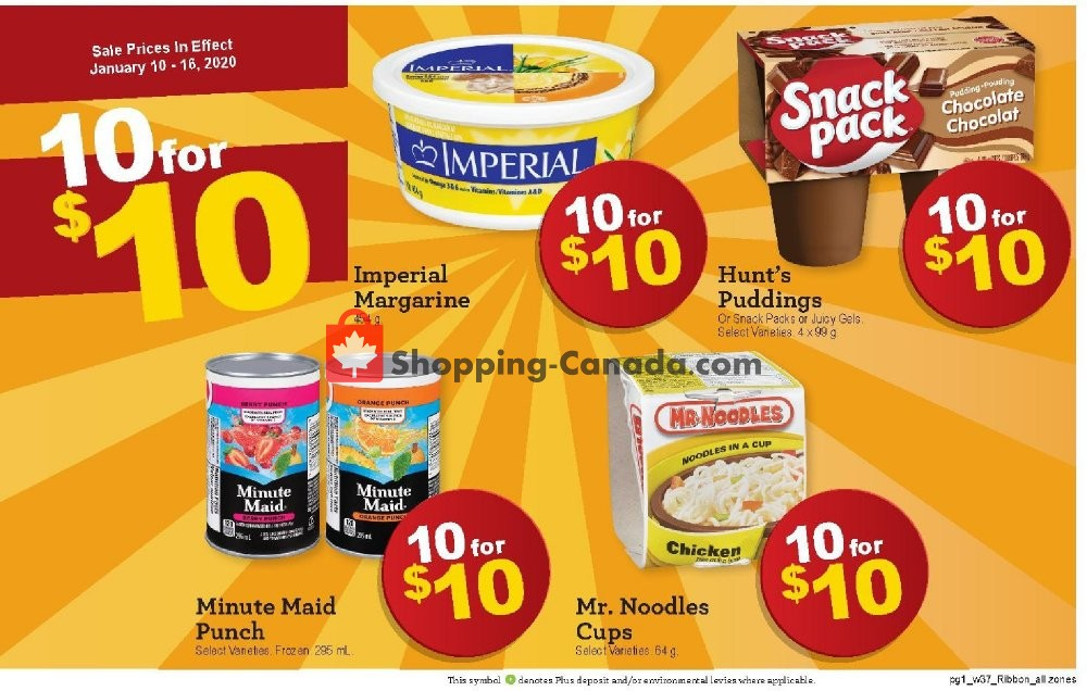Flyer Family Foods Canada - from Friday January 10, 2020 to Thursday January 16, 2020