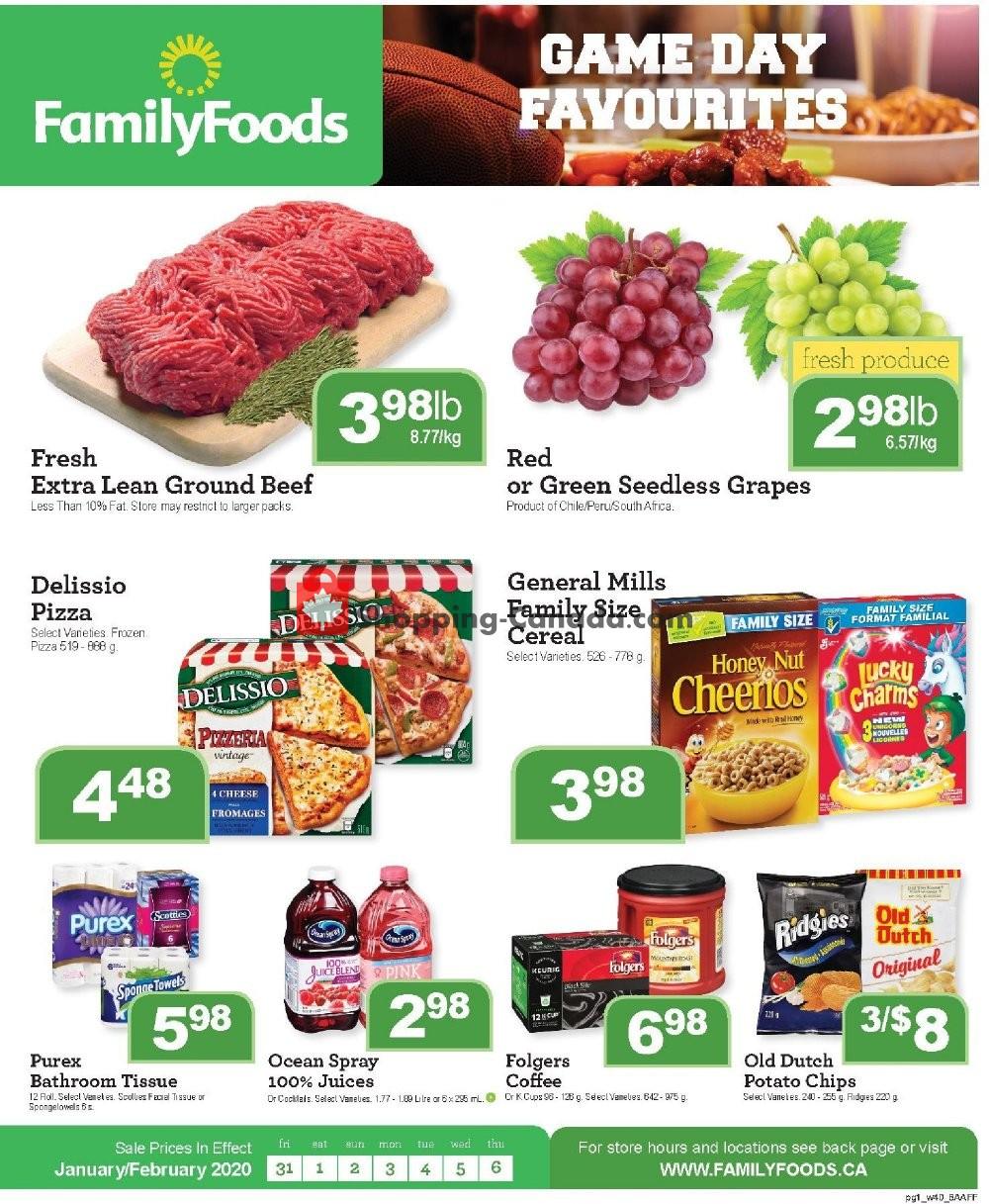 Flyer Family Foods Canada - from Friday January 31, 2020 to Thursday February 6, 2020
