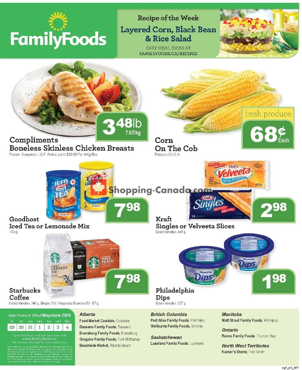Flyer Family Foods Canada - from Friday May 29, 2020 to Thursday June 4, 2020