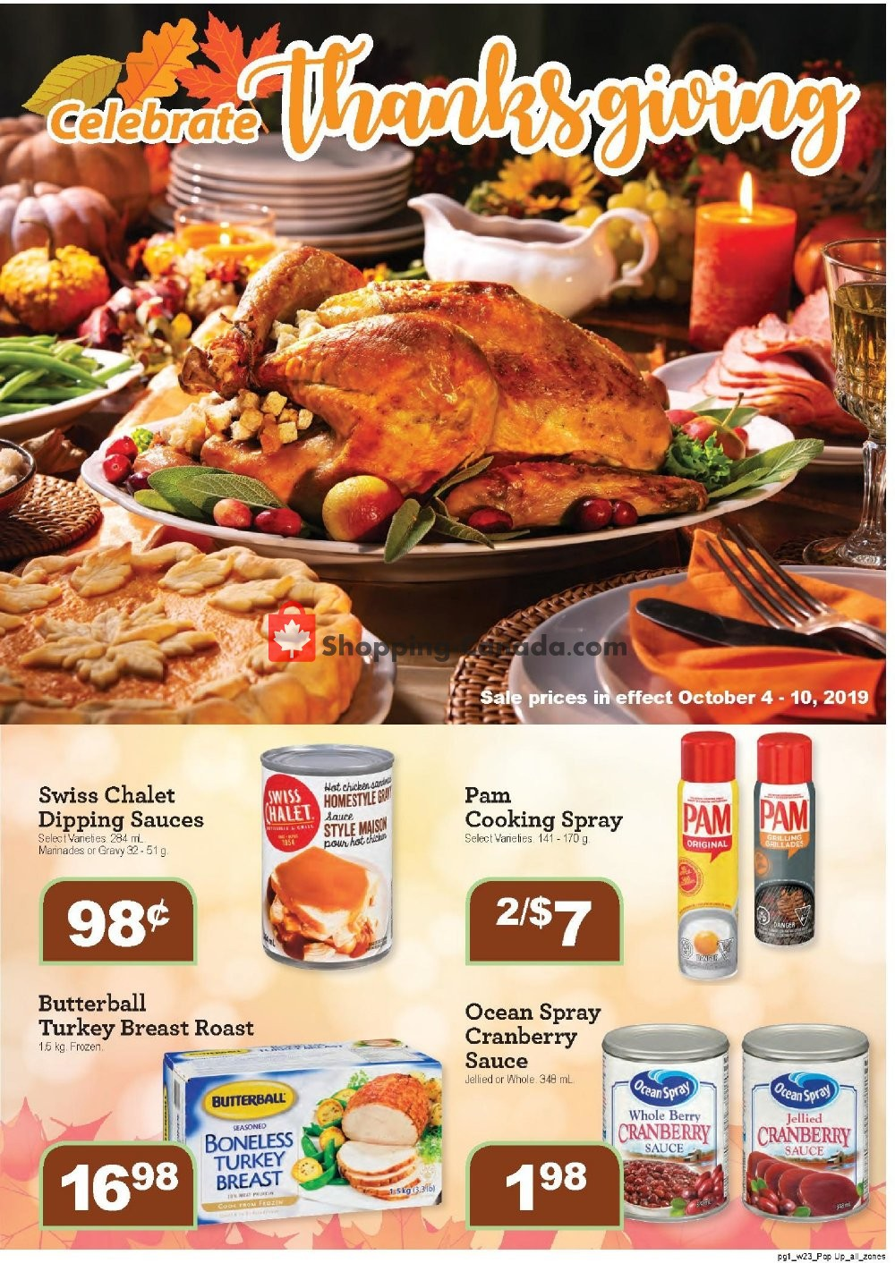 Flyer Family Foods Canada - from Friday October 4, 2019 to Thursday October 10, 2019