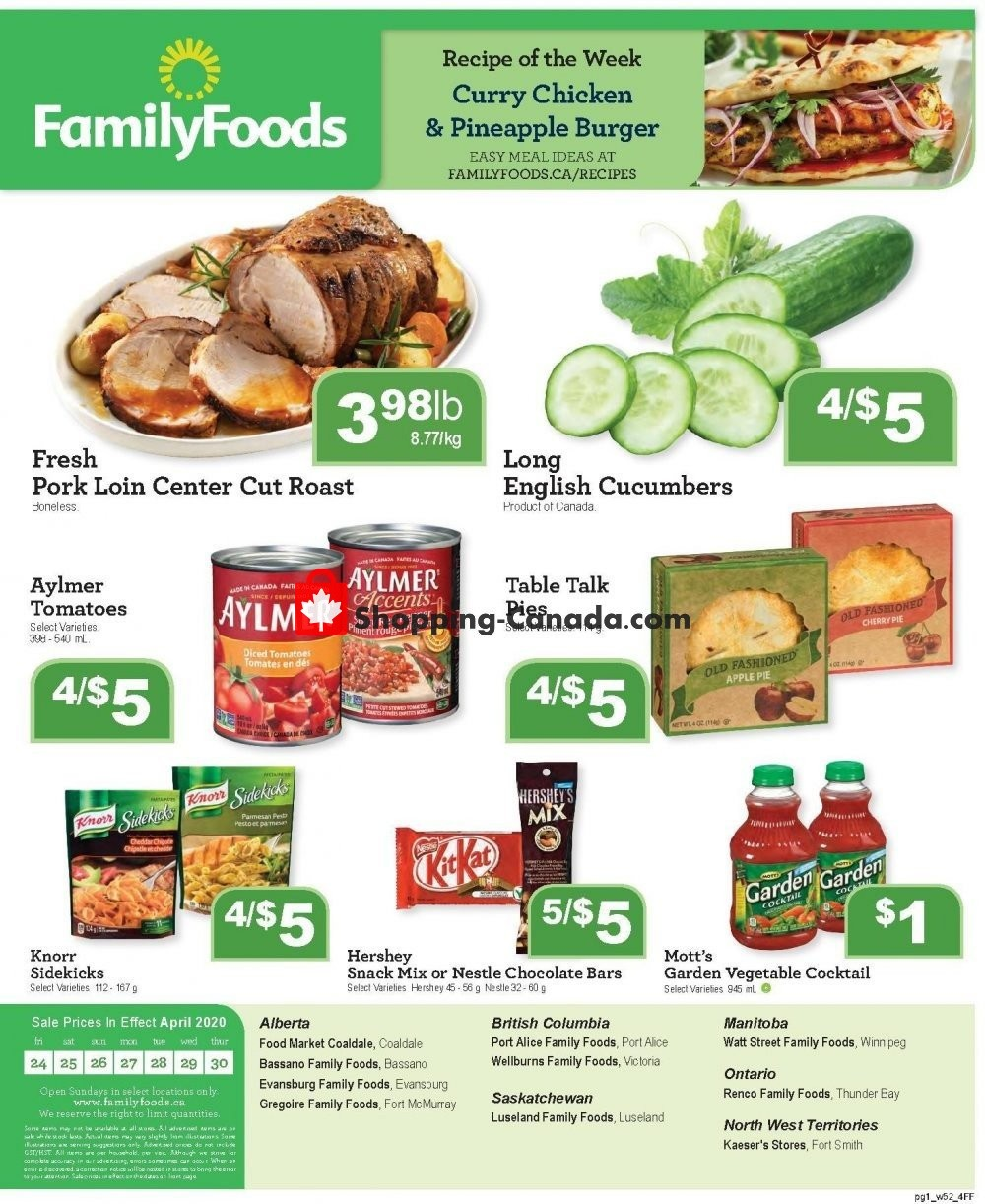 Flyer Family Foods Canada - from Friday April 24, 2020 to Thursday April 30, 2020