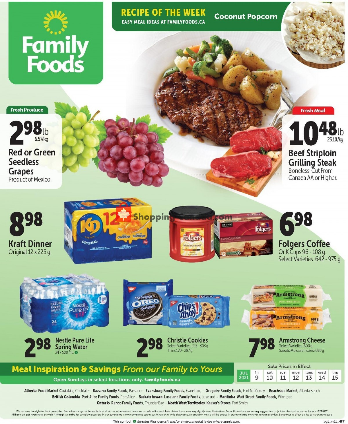 Flyer Family Foods Canada - from Friday July 9, 2021 to Thursday July 15, 2021