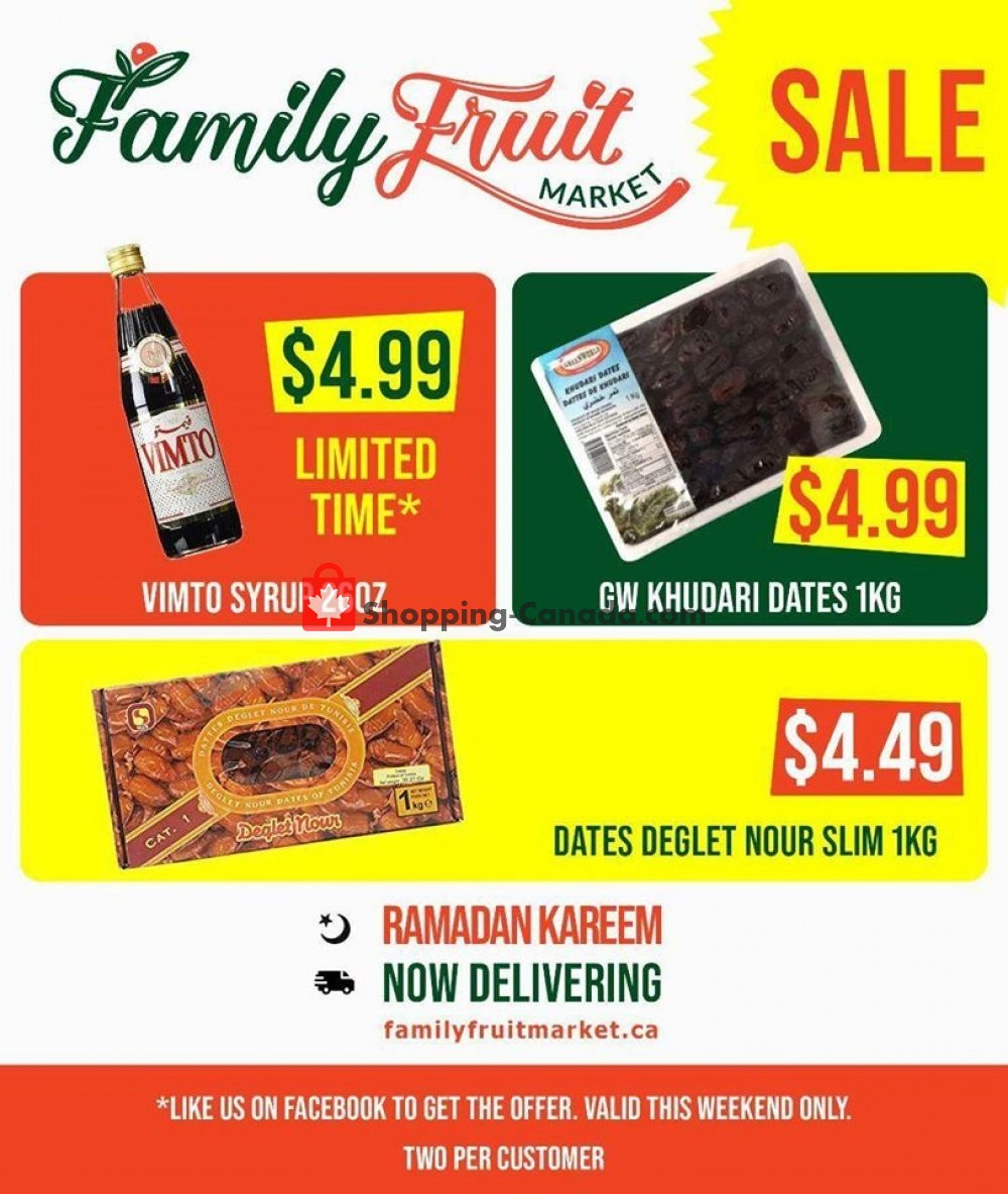 Flyer Family Fruit Market Canada - from Friday April 24, 2020 to Thursday April 30, 2020