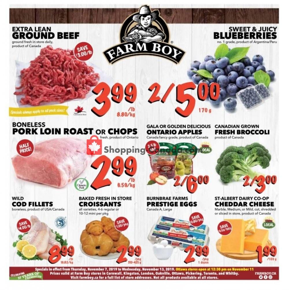 Flyer Farm Boy Canada - from Thursday November 7, 2019 to Wednesday November 13, 2019