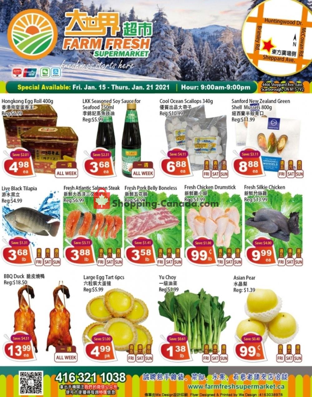 Flyer Farm Fresh Supermarkets Canada - from Friday January 15, 2021 to Thursday January 21, 2021