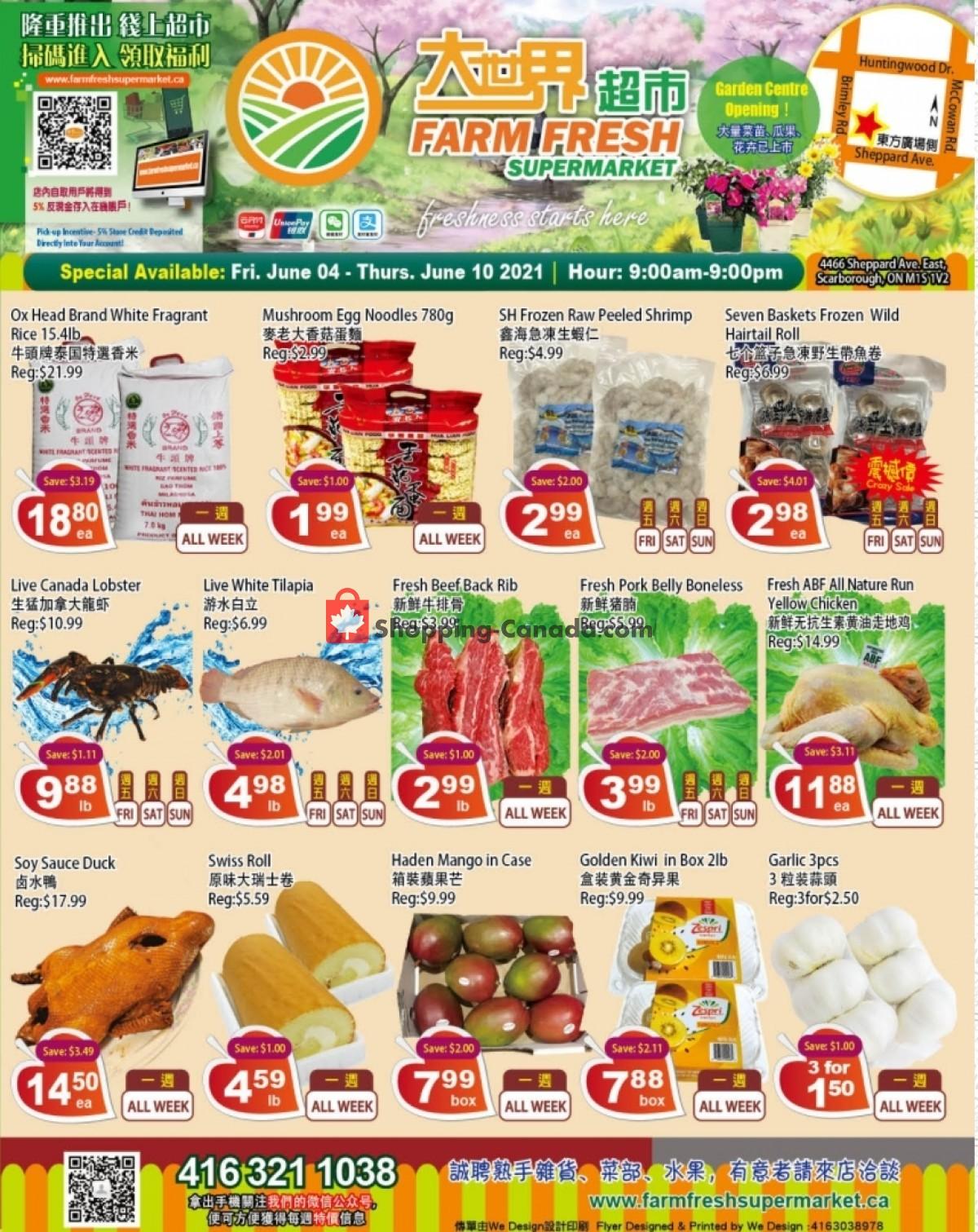 Flyer Farm Fresh Supermarkets Canada - from Friday June 4, 2021 to Thursday June 10, 2021